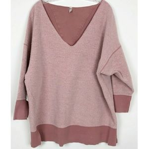 Free People Mauve pink reversible sweatshirt